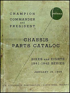1941-1942 Studebaker Car Original Mechanical Parts Book