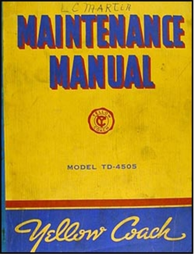 1941-1942 GMC TD-4505 Bus Yellow Coach Repair Manual Reprint