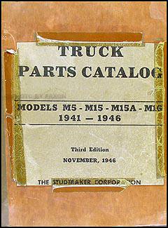 1941-1946 Studebaker Pickup Truck Original Parts Book