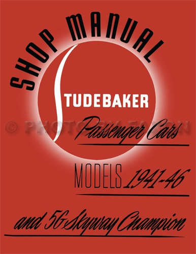 1941-1942-1946 Studebaker Car Shop Manual Reprint -- All models