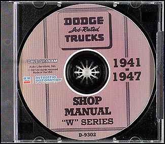 1941-1947 Dodge Pickup & Truck CD Shop Manual W series