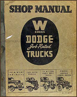 1941-1947 Dodge Truck Shop Manual Original