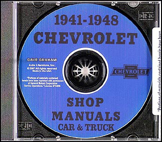 1941-1948 Chevrolet CD-ROM Shop Manual 1941-1948 Car & 1941-1946 Truck