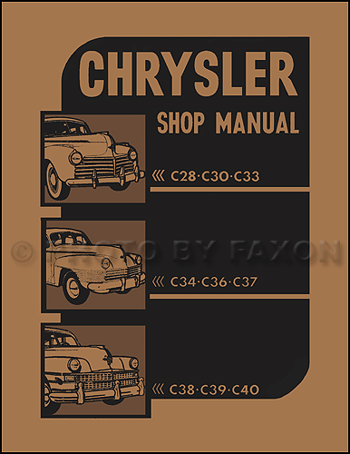1941-1948 Chrysler Shop Manual Reprint -- All Models