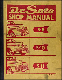 1941-1948 De Soto Shop Manual Original