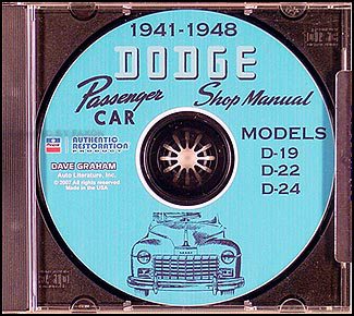 1941-1948 Dodge Car CD-ROM Shop Manual