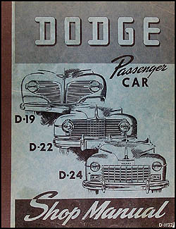 1941-1948 Dodge Car Shop Manual Original