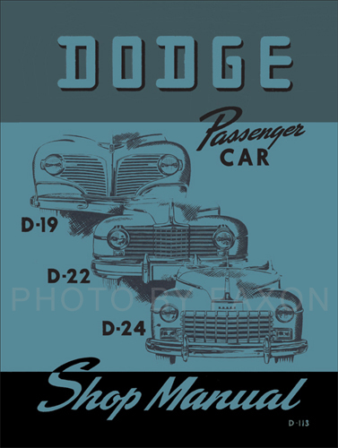 1941-1948 Dodge Car Shop Manual Reprint