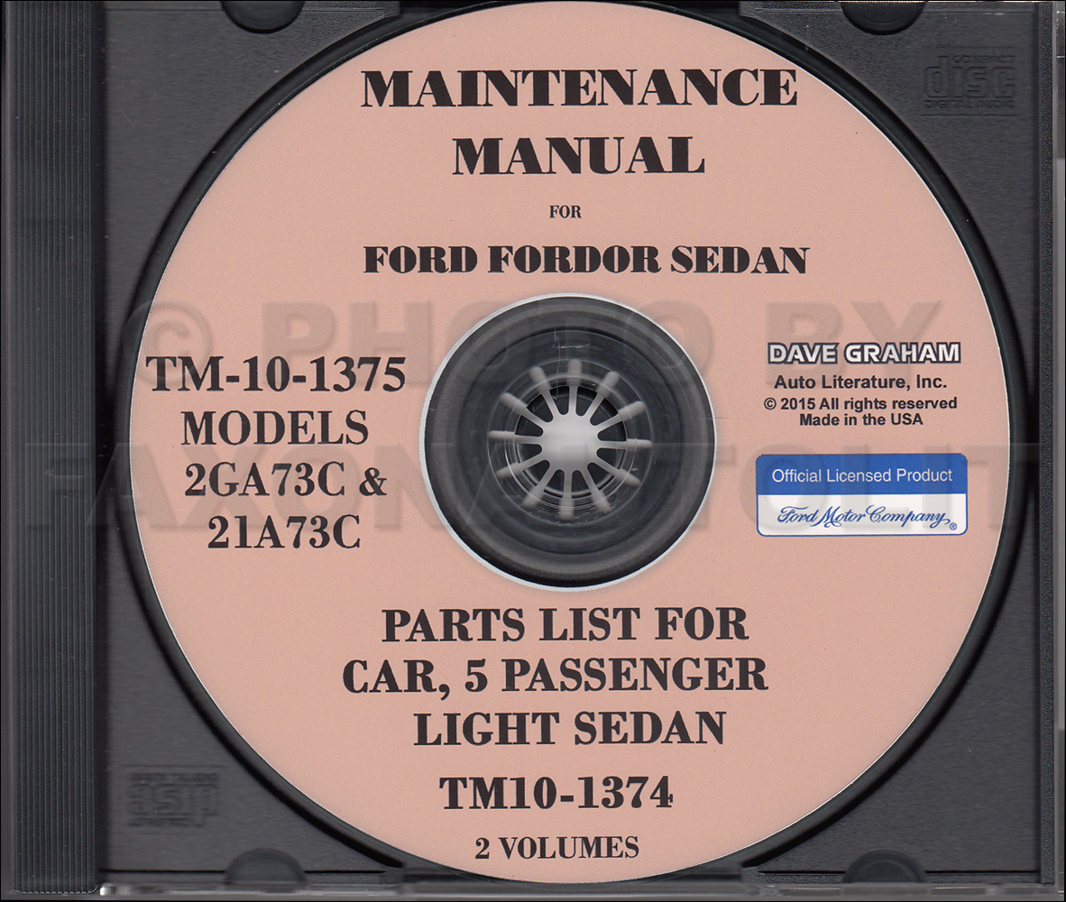 1941-1948 Ford Shop Manual and Parts Catalog CD-ROM