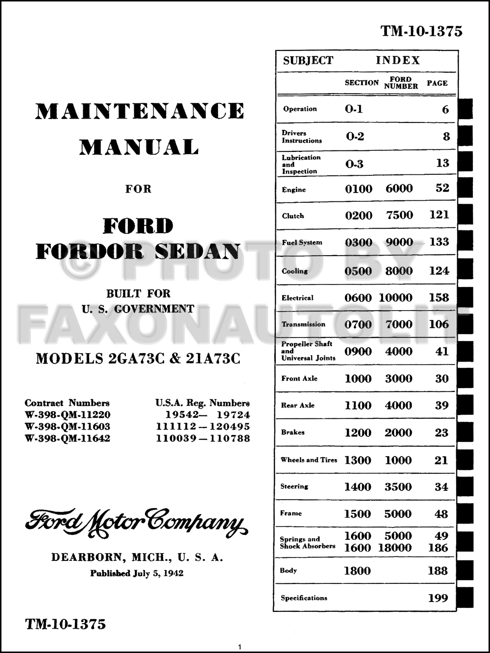 1941-1948 Ford Car & Truck Shop Manual and Parts Catalog Reprint. click on  thumbnail to zoom