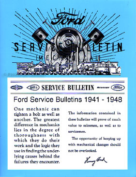 1941-1948 Ford Lincoln Mercury Service Bulletins Softbound Reprint