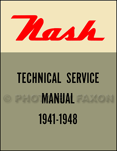 1941-1948 Nash Shop Manual Reprint