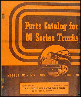 1941-1948 Studebaker Pickup Truck Original Parts Book