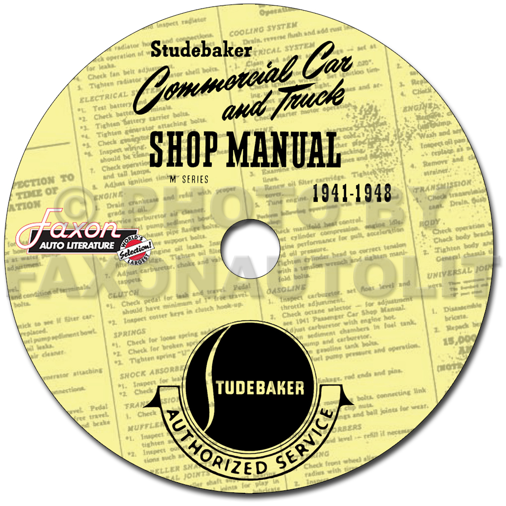 1941-1948 Studebaker Pickup Truck Shop Manual Reprint
