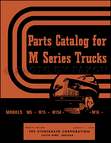 1941-1948 Studebaker Pickup Truck Parts Book Reprint