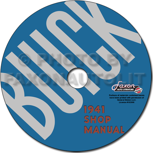 1941 Buick Repair Manual Reprint