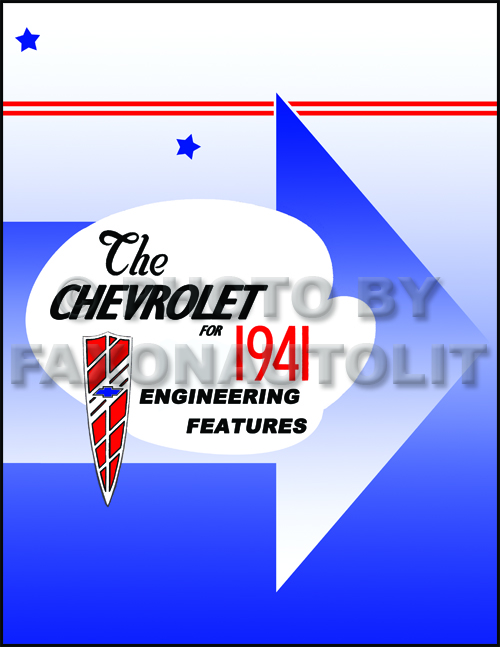 1941 Chevrolet Car and Truck Engineering Features Manual Reprint