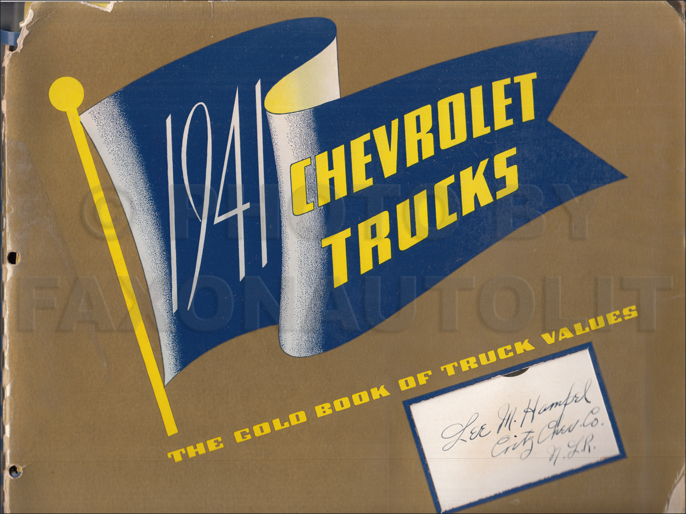 1941 Chevrolet Truck Dealer Album Original