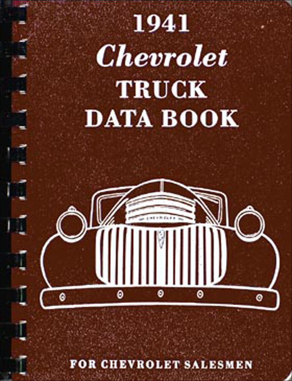 1941 Chevrolet Pickup & Truck Data Book Reprint Chevy