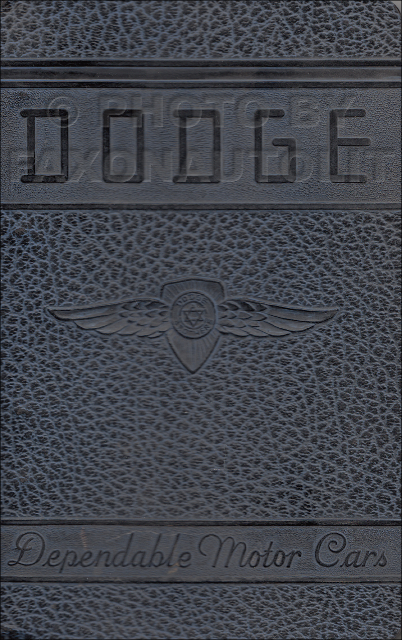 1941 Dodge Car Data Book Original