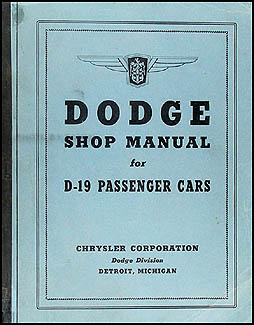 1941 Dodge Car Shop Manual Original