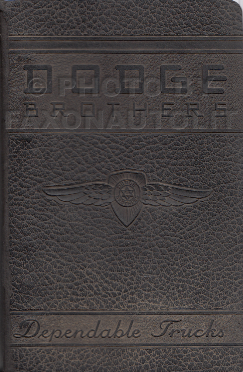 1942 Dodge Truck Data Book Original