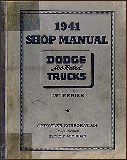 1941 Dodge Truck Shop Manual Original