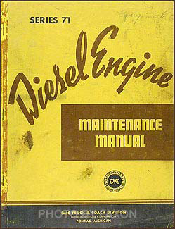 1939-1944 GMC  Diesel Engine Repair Manual Original