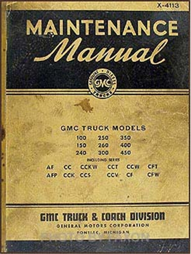 1941-1942 GMC 100-450 Repair Manual Original