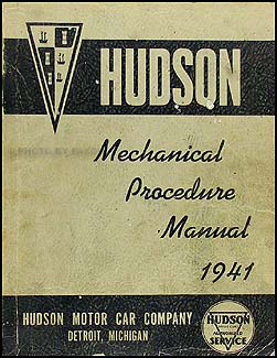 1941 Hudson Shop Manual Original