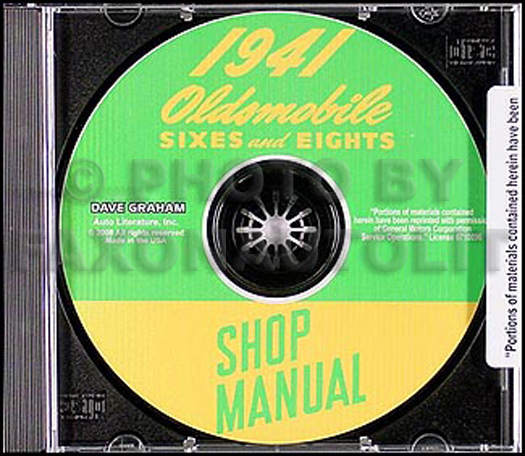 1941 Oldsmobile Repair Manual CD-ROM Olds