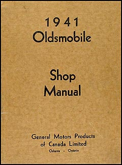 1941 Oldsmobile Repair Manual Original Canadian 5 1/2 x 7""