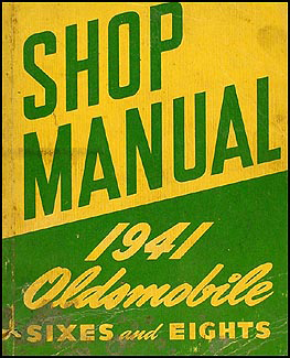 1941 Oldsmobile Repair Manual Original 5 1/2 x 7""