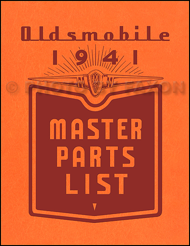 1941 Oldsmobile Repair Manual Original 8 1/2 x 11""
