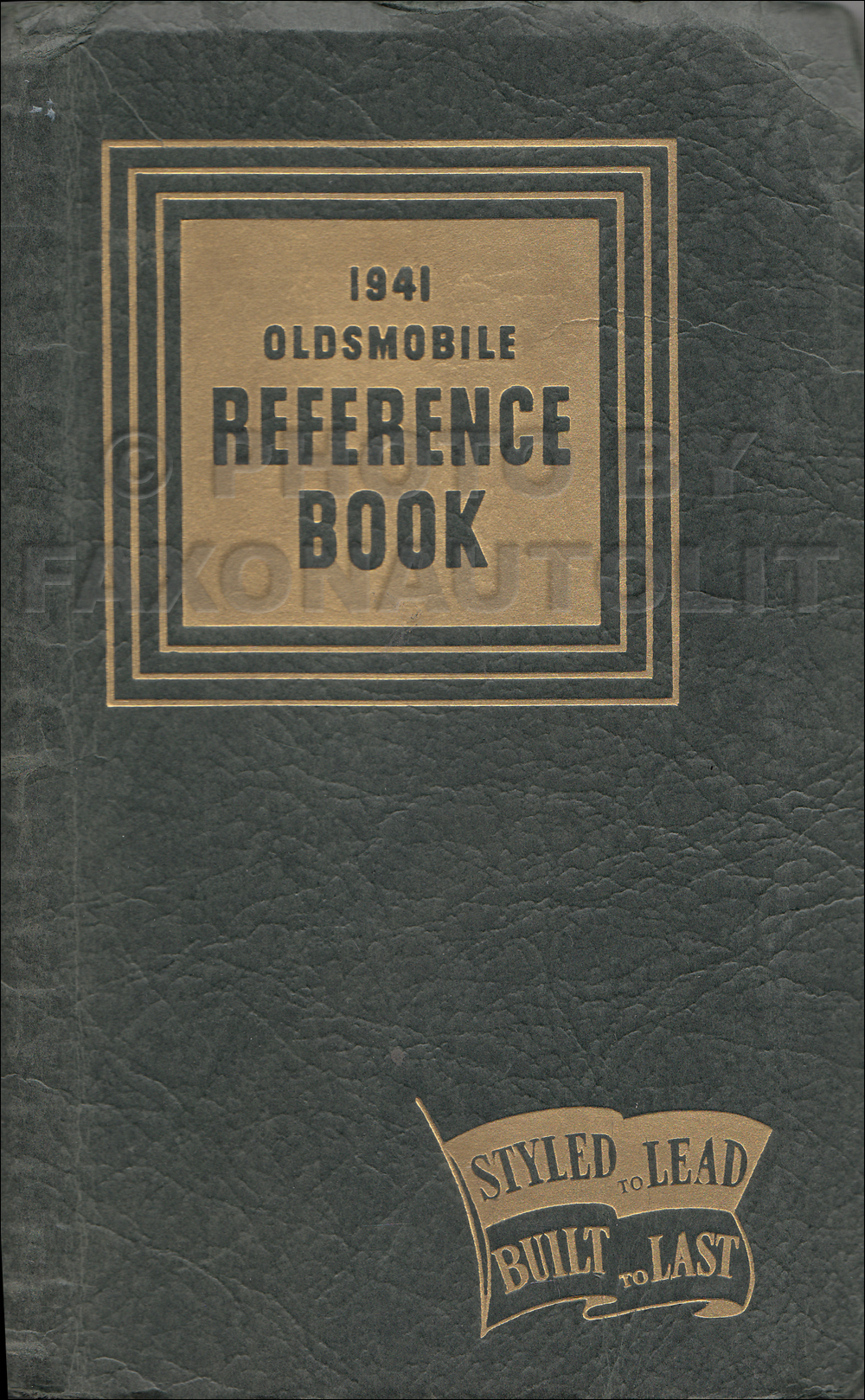 1941 Oldsmobile Data Book Original