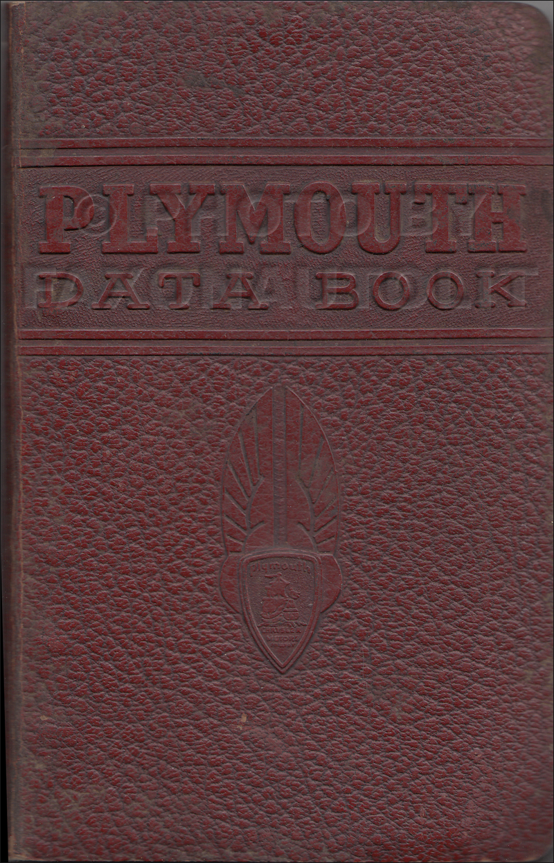 1941 Plymouth Data Book Original