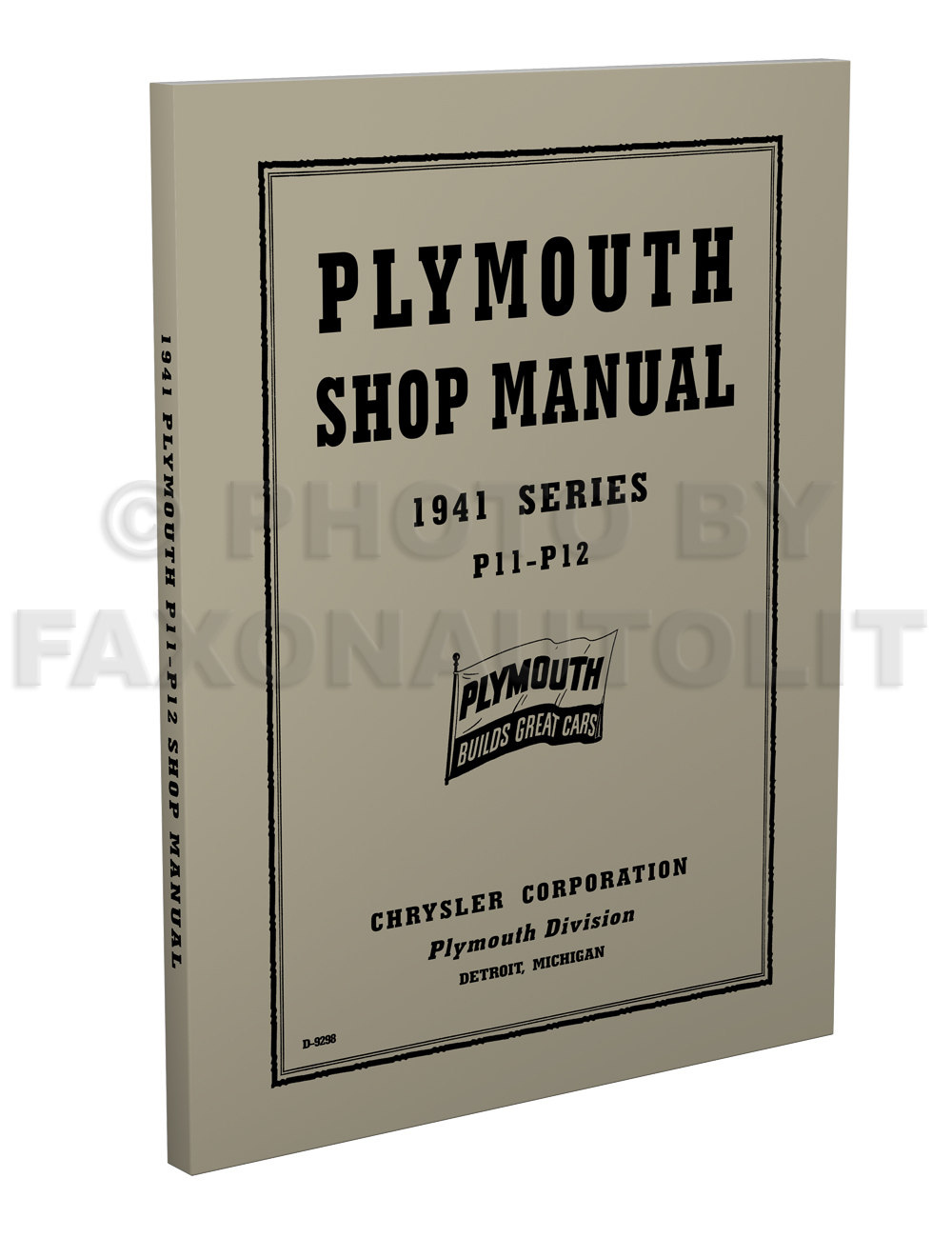 1941 Plymouth Shop Manual Original