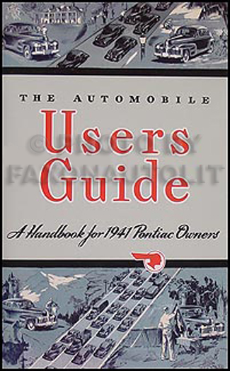 1941 Pontiac Owners Manual Reprint