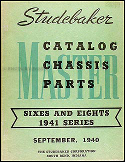 1941 Studebaker Car Original Chassis Parts Book