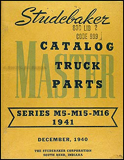 1941 Studebaker Pickup & Truck Original Parts Book