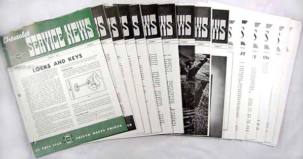 1942-1945 Chevrolet Service News (15 issues) reprint