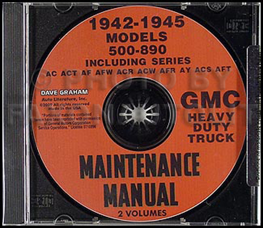 CD-ROM 1941-1945 GMC Heavy Duty Truck 500-890