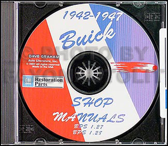 1942-1947 Buick CD-ROM Repair Manual for all models