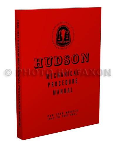 1942-1947 Hudson Shop Manual Reprint