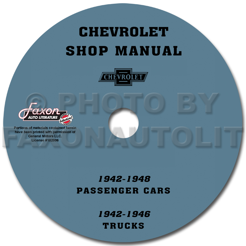 1949-1954 Chevrolet Car CD-ROM Shop Manual