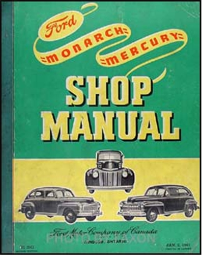 1939-1948 Ford Mercury Original Shop Overhaul Manual Car Pickup Truck