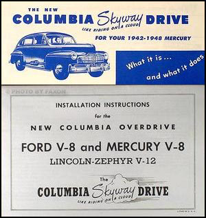 1942-1948 Mercury Columbia Axle 5 manual set Reprint