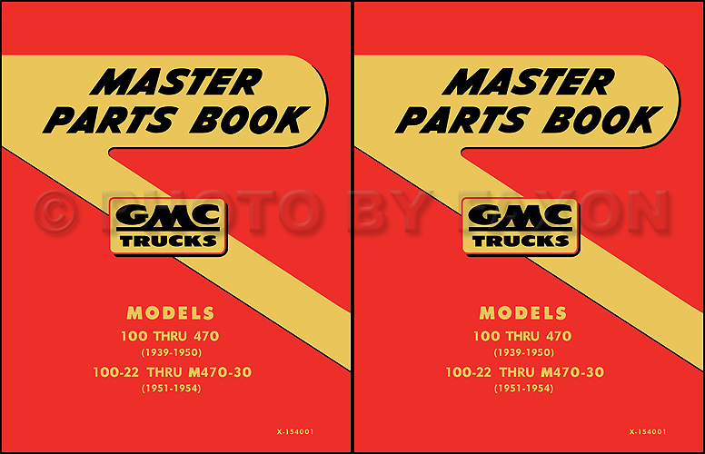 1942-1954 GMC 100-470 Parts Book Reprint 2 Volume Set
