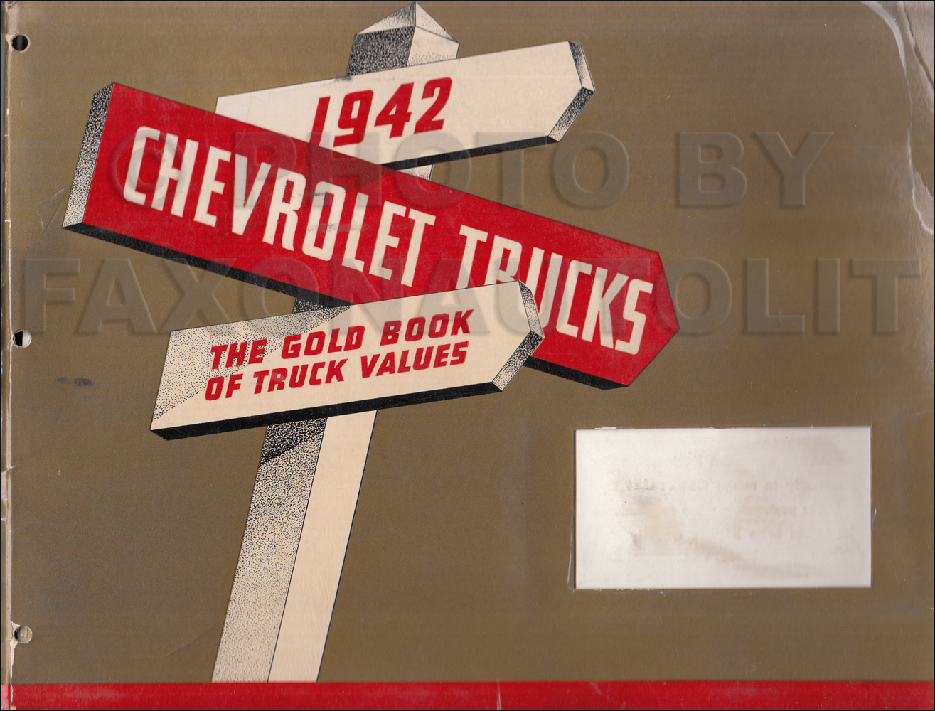 1942 Chevrolet Truck Dealer Album Original