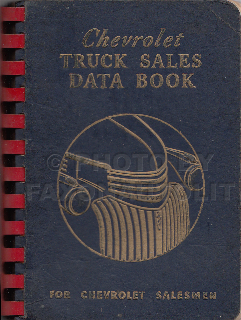 1942 Chevrolet Truck Data Book Original